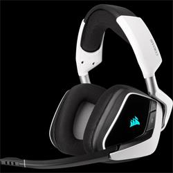 Corsair herní sluchátka VOID RGB ELITE Wireless Premium with 7.1 Surround Sound, White (EU)