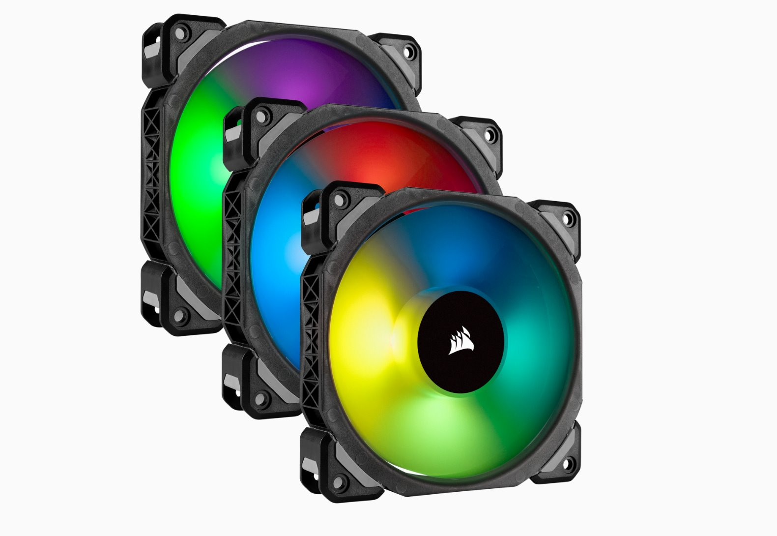 Corsair ventilátor ML120 PRO RGB, Premium Magnetic Levitation, Tripple pack, 120mm, Lighting Node PRO