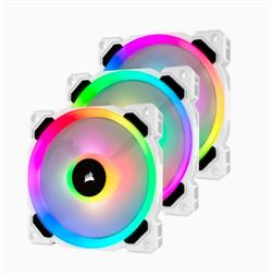 Corsair ventilátor LL Series, LL120 RGB White, 120mm Dual Light Loop RGB LED PWM Fan, 3 Fan Pack with Lighting Node PRO