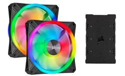 Corsair ventilátor QL Series QL140 RGB LED, 2x 140mm, 26dBA, Lighting Node CORE