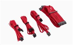 Corsair premium Individually Sleeved DC Cable Starter Kit, Type 4 (Generation 4), RED