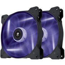 Corsair ventilátor Air Series SP120 120mm, 3pin, fialový LED, twin pack