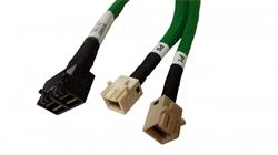 Broadcom LSI internal U.2 cable 1.0 m 2x Mini-SAS HD (SFF-8643) to 2x Mini-SAS HD (SFF-8643) white (for NVMe)