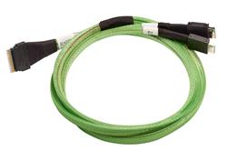 Broadcom LSI internal U.3 cable 1.0 m SlimLine x8 (SFF-8654) to 2x OcuLink x4 (SFF-8612)