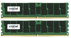 Crucial DDR4 64GB (Kit 2x32GB) DIMM 2400MHz CL17 ECC Load Reduced DR x4 (min. obj 10ks)