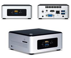 "INTEL NUC Pinnacle Canyon/Kit NUC5PPYH/Pentium N3700/2.5"" SATA SSD/HDD/Wifi"