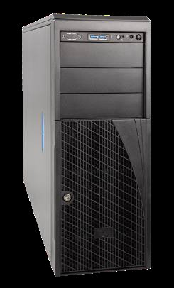 "Intel® Server 4U Tower/Rack Chassis 4x 3,5"" fix, bez zdroje"