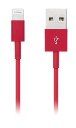 CONNECT IT Wirez COLORZ kabel Apple Lightning - USB, 1m, červený