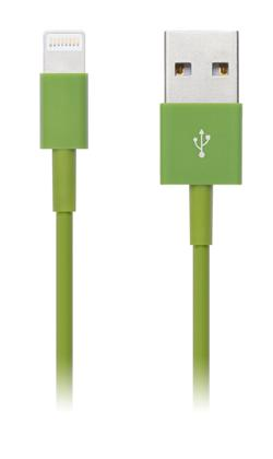 CONNECT IT Wirez COLORZ kabel Apple Lightning - USB, 1m, zelený