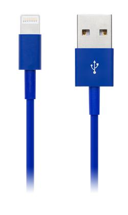 CONNECT IT Wirez COLORZ kabel Apple Lightning - USB, 1m, modrý