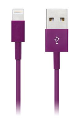 CONNECT IT Wirez COLORZ kabel Apple Lightning - USB, 1m, fialový