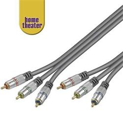 Home Theater Propojovací HQ 3x CINCH RCA - 3x CINCH RCA kabel 2,5m M/M  RGB video