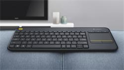 Logitech® Wireless Touch Keyboard K400 Plus - INTNL - US International layout - Black