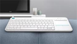 Logitech® Wireless Touch Keyboard K400 Plus - INTNL - US International layout - white