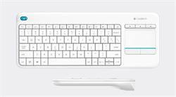 Logitech® Wireless Touch Keyboard K400 Plus - EMEA - Czech layout - bílá