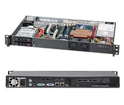 "SUPERMICRO mini1U chassis, 2x 2,5""HS SAS/SATA, 200W, Single CPU Xeon 34xx (max 45W)"