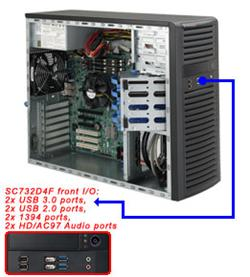 "SUPERMICRO Mid-Tower 4x 3,5"" fixed HDD, 2x 5,25"", 1x ext 3,5"",(Audio,2xUSB 3.0,2xUSB 2.0,Audio,2x1394), 900W (80PLUS("