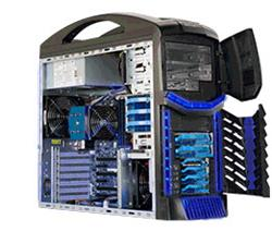 "SUPERMICRO Gaming Mid-Tower 3x 3,5"" HS Internal, 2x 3,5"" HS external,) 2x 5,25"", 900W (80PLUS Gold)"
