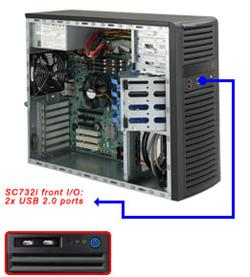 "SUPERMICRO Mid-Tower 4x 3,5"" fixed HDD, 2x 5,25"", 1x external 3,5"", 865W (80PLUS)"