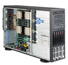 "SUPERMICRO Tower/4U 5x 3,5""HS SAS/SATA, 3x 5,25"",2x1400W (80PLUS Platinum)"