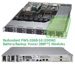 "SUPERMICRO 1U chassis 8x 2,5"" HS SAS/SATA, 2x700W (80PLUS Gold), WIO, (Battery Backup Power)"