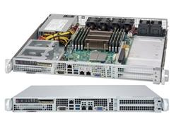 "SUPERMICRO mini1U chassis, front IO, 2x (opt. 4x) internal Drive Bays 2,5"", 500W (Platinum)"
