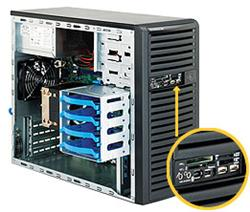 "SUPERMICRO Mid-Tower 4x 3,5"" fixed HDD, 2x 5,25"", 1x external 3,5"", 400W (80PLUS Gold)"