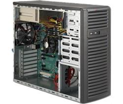 "SUPERMICRO Mid-Tower 4x 3,5"" fixed HDD, 2x 5,25"", 1x external 3,5"", 2x500W (80PLUS Bronze)"