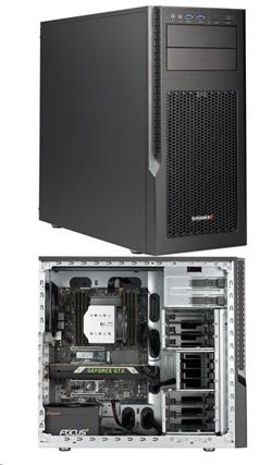 "SUPERMICRO Mid-Tower 6x 3,5"" + 4x 2,5"" int. HDD, 2x 5,25"", 750W (80Plus Gold)"