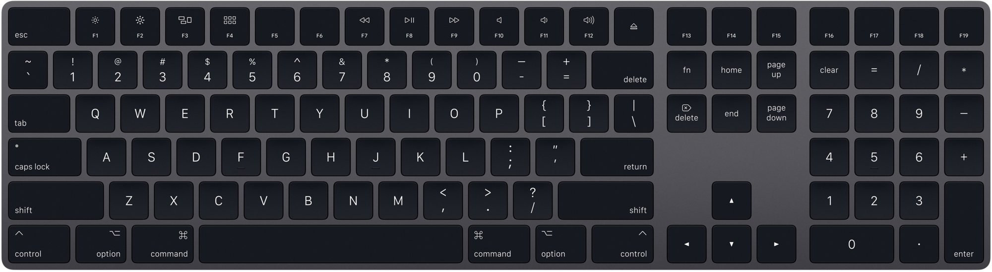 Magic Keyboard NUM Space Grey - Slovak