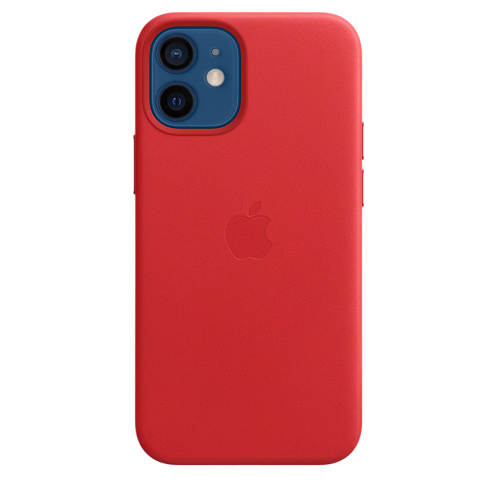 iPhone 12 mini Leather Case with MagSafe (P.)RED