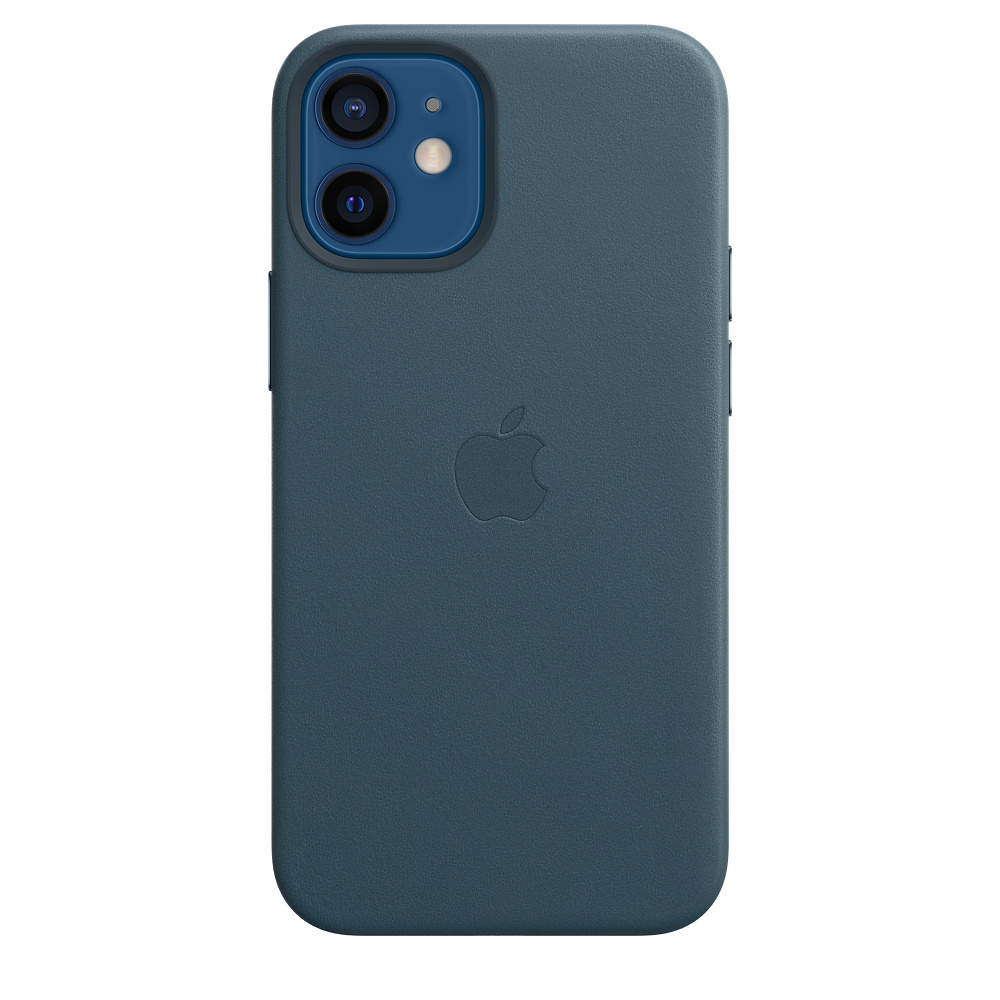 iPhone 12 mini Leather Case with MagSafe B.Blue