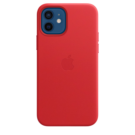 iPhone 12/12 Pro Leather Case with MagSafe (P.)RED