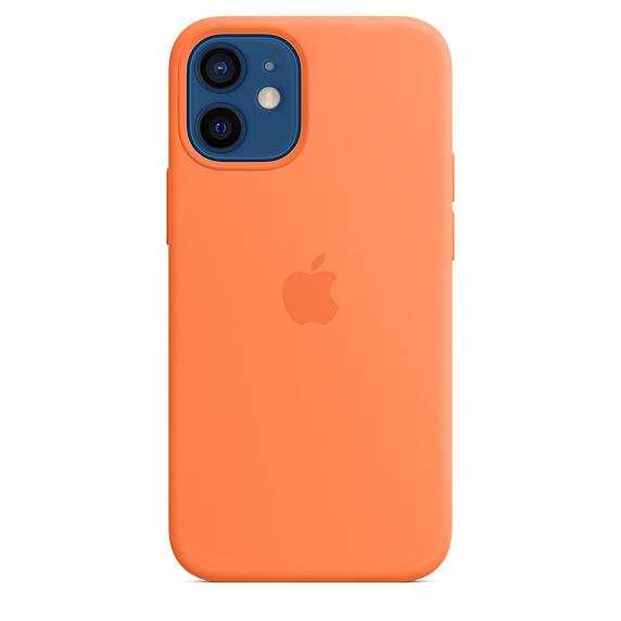 iPhone 12 mini Silicone Case with MagSafe Kumquat