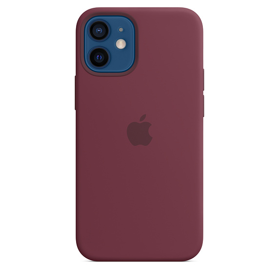 iPhone 12 mini Silicone Case with MagSafe Plum