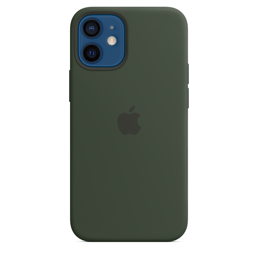 iPhone 12 mini Silicone Case with MagSafe Green/SK