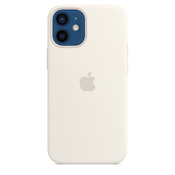 iPhone 12 mini Silicone Case with MagSafe White/SK