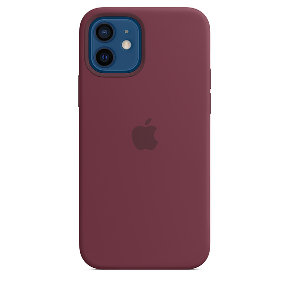 iPhone 12/12 Pro Silicone Case w MagSafe Plum/SK