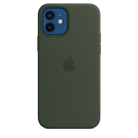 iPhone 12/12 Pro Silicone Case w MagSafe Green/SK