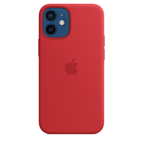 iPhone 12/12 Pro Silicone Case w MagSafe (P.)RED