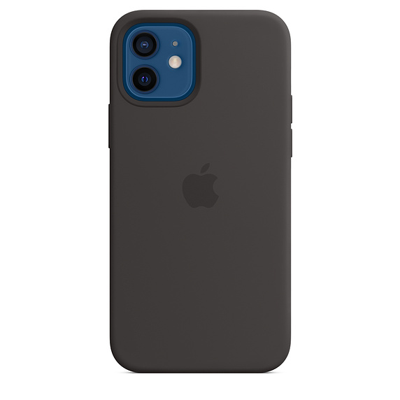 iPhone 12/12 Pro Silicone Case w MagSafe Black/SK