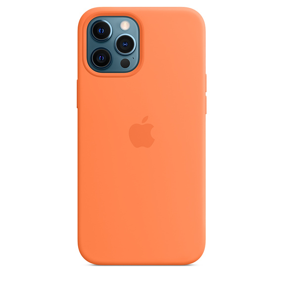 iPhone 12 Pro Max Silicone Case w MagSafe Kumquat