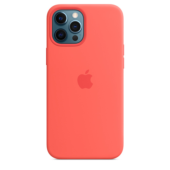 iPhone 12 Pro Max Silicone Case w MagSafe Pnk Cit.