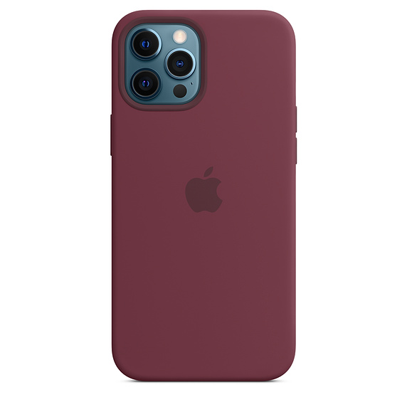 iPhone 12 Pro Max Silicone Case MagSafe Plum /SK