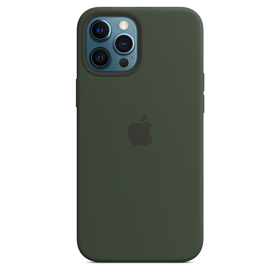 iPhone 12 Pro Max Silicone Case MagSafe C.Green