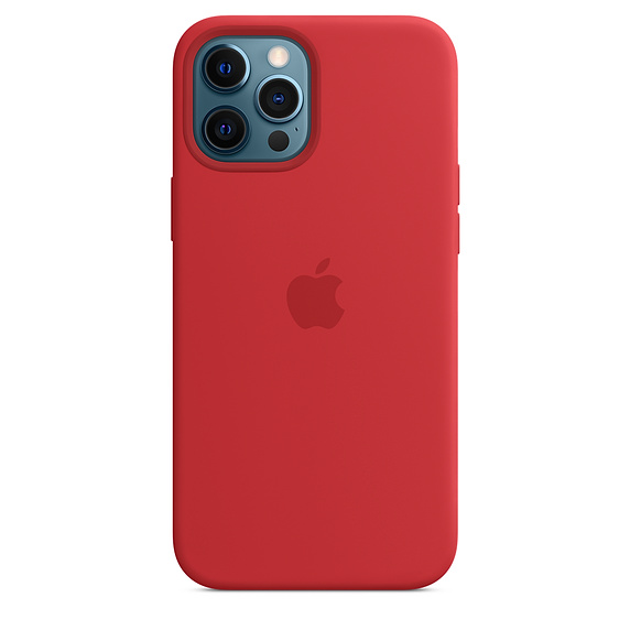 iPhone 12 Pro Max Silicone Case MagSafe (P.)RED