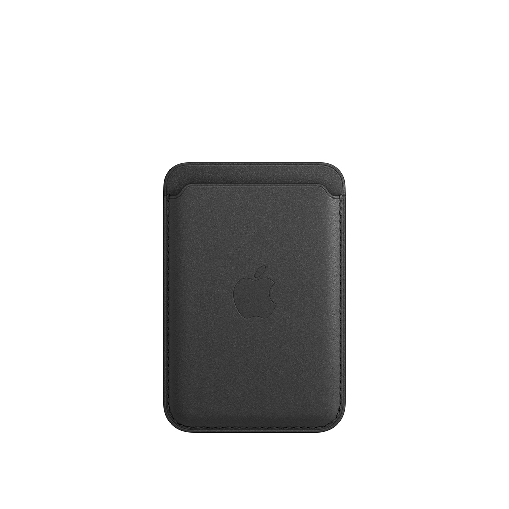 iPhone Leather Wallet with MagSafe Black