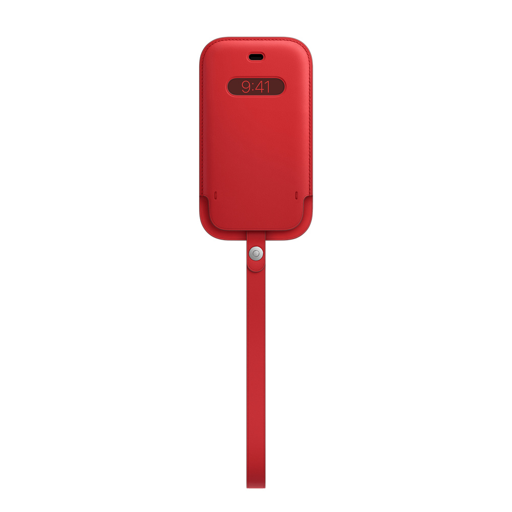 iPhone 12|12Pro Leather Sleeve wth MagSafe RED