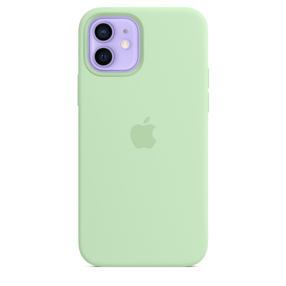 iPhone 12 12Pro Silicone Case wth MagSafe Pistach.