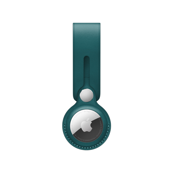AirTag Leather Loop - Forest Green / SK